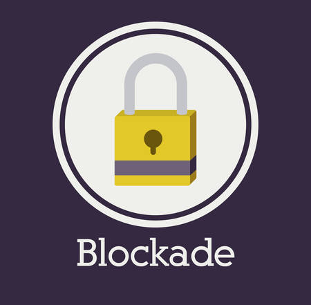blockade: Security system concept with padlock icons design, vector illustration eps 10 Illustration