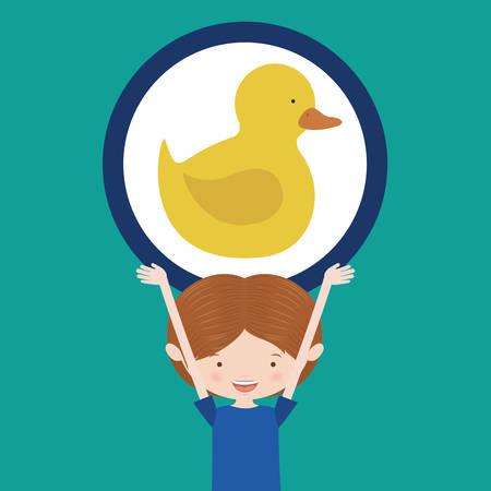 ducky: toys kids design, vector illustration  graphic