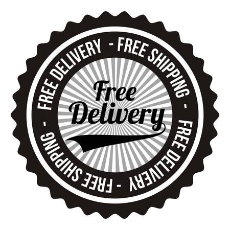 stamp design: delivery service design, vector illustration graphic