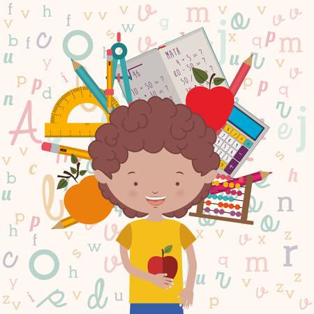 date fruit: back to school design, vector illustration  graphic Illustration