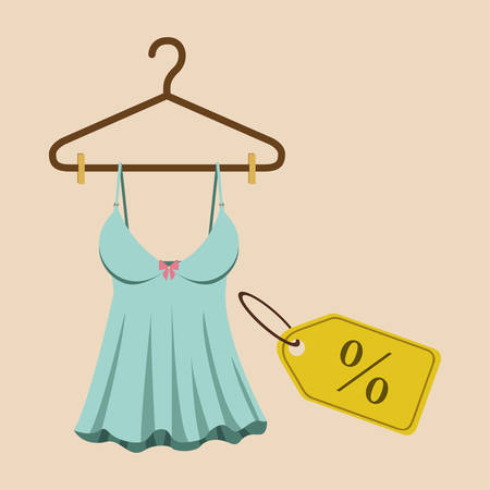 clothes hanging: Buying products design, vector illustration eps10 graphic Illustration