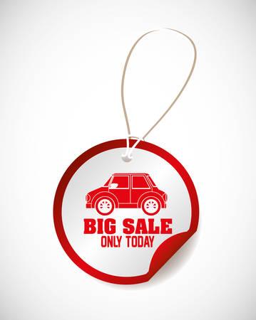 cars on sale design, vector illustration eps10 graphic Illustration