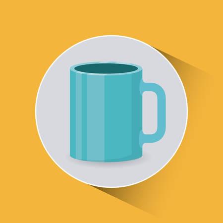 coffee cup design, vector illustration eps10 graphic Illustration