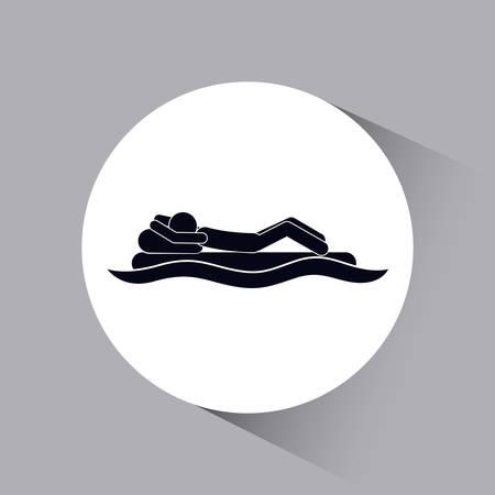sunbathing: silhouette sunbathing design, vector illustration eps10 graphic