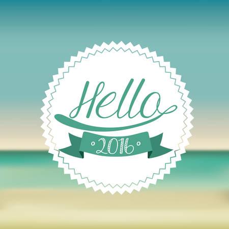 bienvenidos: feliz a�o nuevo 2016 de dise�o, ilustraci�n vectorial gr�fico eps10 Vectores
