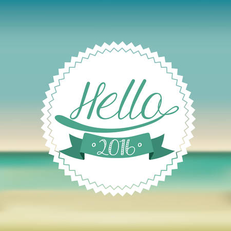 welcome party: happy new year 2016 design, vector illustration eps10 graphic