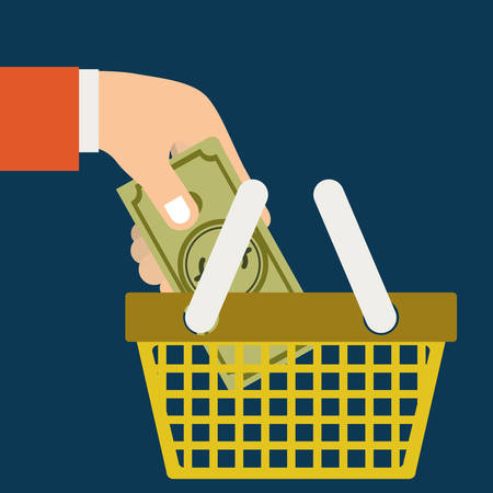 retail place: Buying products design, vector illustration eps10 graphic Illustration