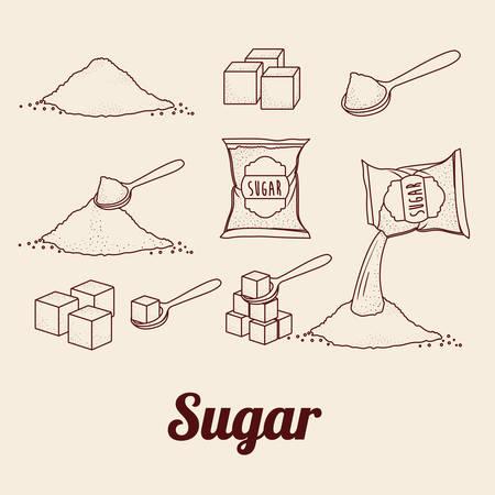 cuchara: azúcar diseño de producto libre, ejemplo gráfico del vector eps10