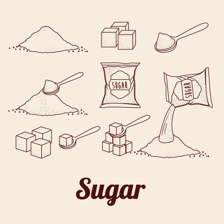 sugar cubes: sugar free product design, vector illustration eps10 graphic Illustration