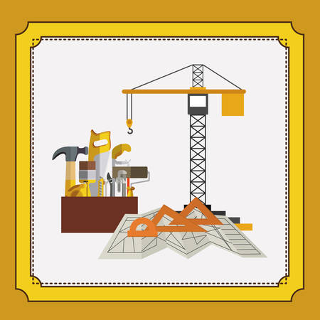 reconstruction: under construction design, vector illustration eps10 graphic Illustration