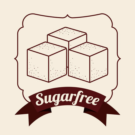 sugar cube: sugar free product design, vector illustration eps10 graphic Illustration