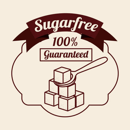 diabetes food: sugar free product design, vector illustration eps10 graphic Illustration