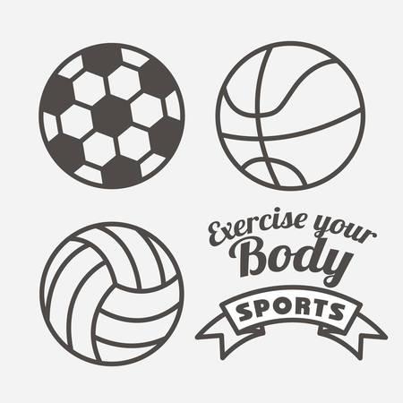 balon voleibol: diseño de estilo de vida saludable, ilustración vectorial gráfico eps10