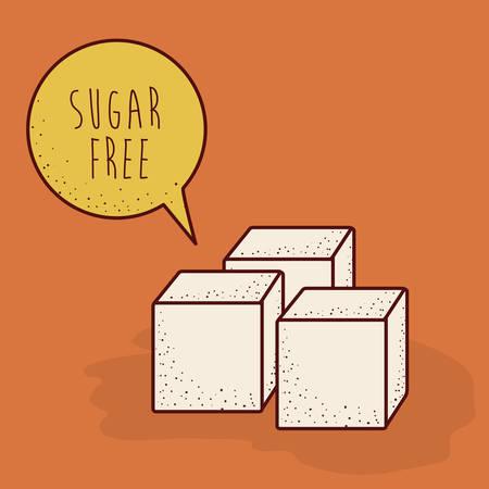 sugar cube: sugar free product design, vector illustration eps10 graphic Illustration