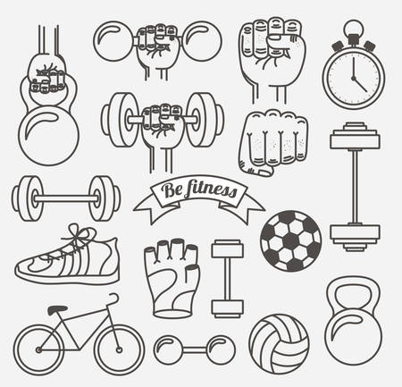 balon de voley: fitness lifestyle design, vector illustration eps10 graphic