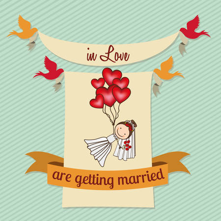 getting married: love card design, vector illustration eps10 graphic Illustration