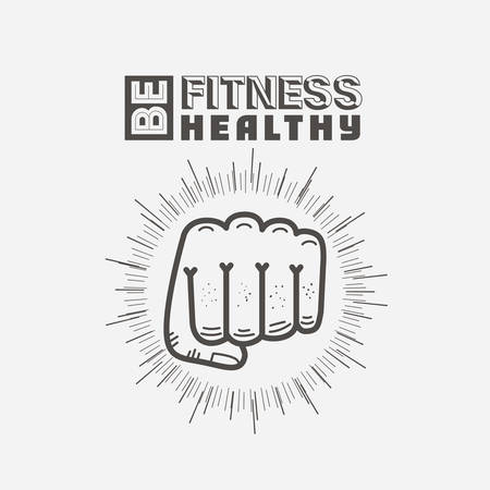 knock: fitness lifestyle design, vector illustration eps10 graphic