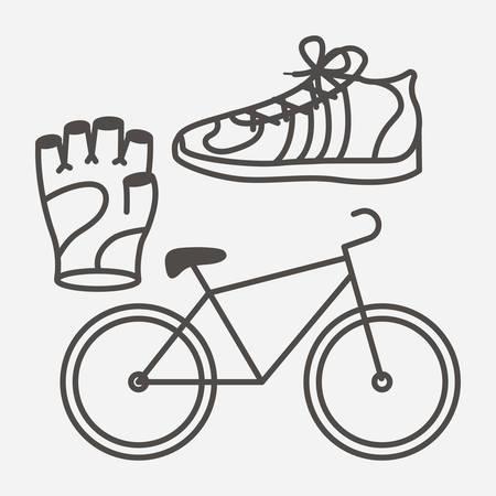 biking glove: fitness lifestyle design, vector illustration eps10 graphic
