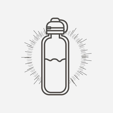 goody: bottle water design, vector illustration eps10 graphic Illustration