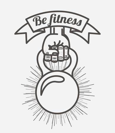 hand lifting weight: fitness lifestyle design, vector illustration eps10 graphic