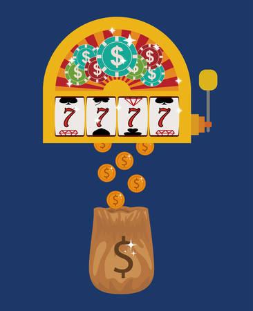 rolling bag: casino games design, vector illustration eps10 graphic Illustration