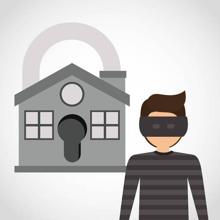 guard house: security systems design, vector illustration eps10 graphic