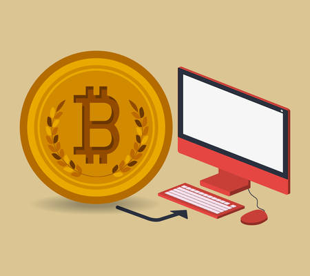 trading: bitcoin trading design, vector illustration eps10 graphic