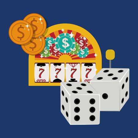 jack pot: casino games design, vector illustration eps10 graphic Illustration