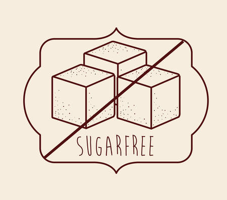 product signal: sugar free product design, vector illustration eps10 graphic Illustration