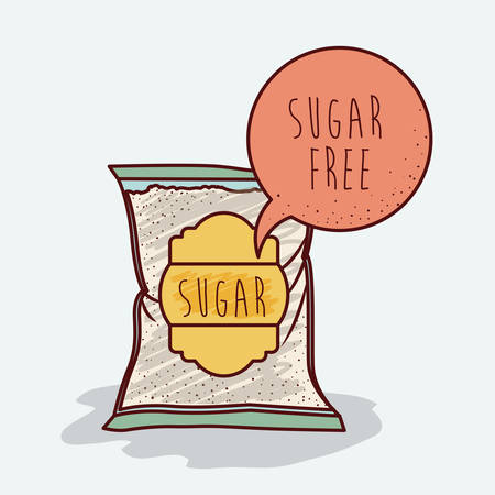 sugar: sugar free product design, vector illustration eps10 graphic Illustration