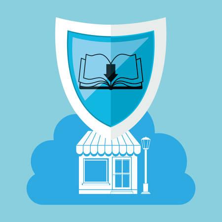 retail place: online bookstore design, vector illustration eps10 graphic Illustration