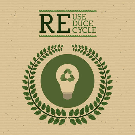 reduce: environmental campaing  design, vector illustration eps10 graphic Illustration