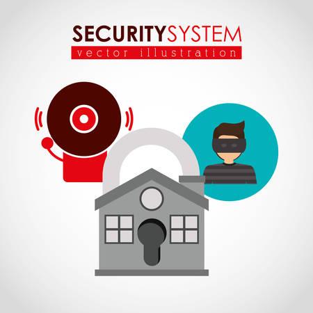 sistema: dise�o de sistemas de seguridad, ilustraci�n vectorial gr�fico eps10