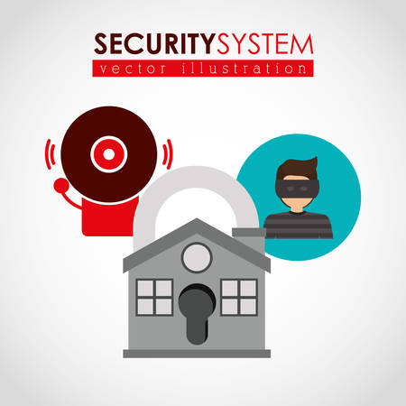 building security: security systems design, vector illustration eps10 graphic