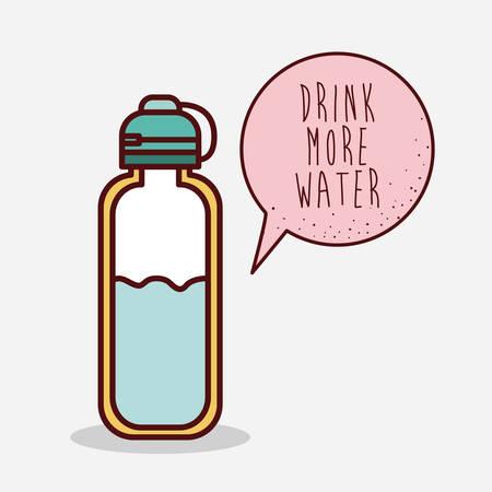 Diseño de la botella de agua, ilustración vectorial gráfico eps10 Foto de archivo - 47061434