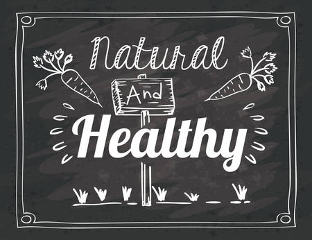 rustic food: Farm food concept over rustic background design, vector illustration