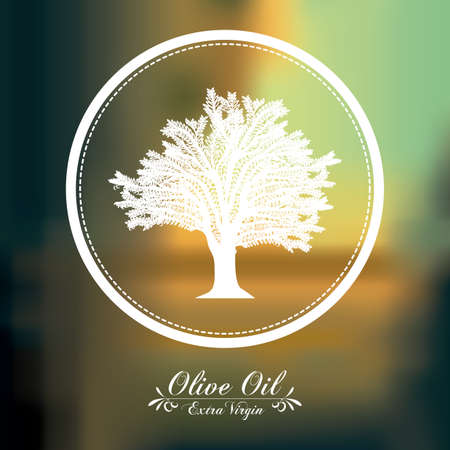 alimentation: Olive Oil concept with  tree design, vector illustration eps 10