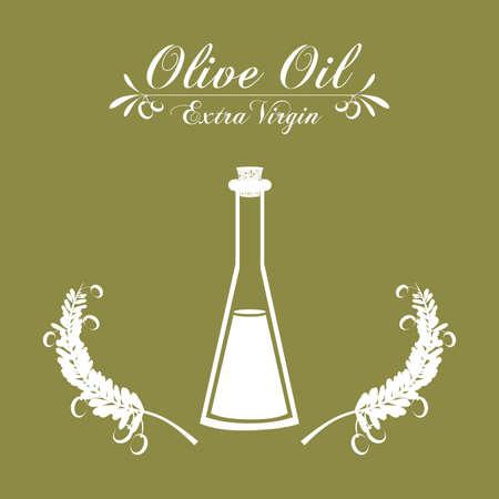 alimentation: Olive Oil concept with  bottle design, vector illustration  Stock Photo