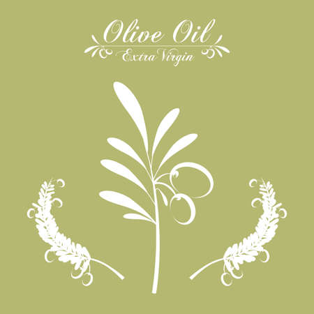 alimentation: Olive Oil concept with  plant design, vector illustration eps 10