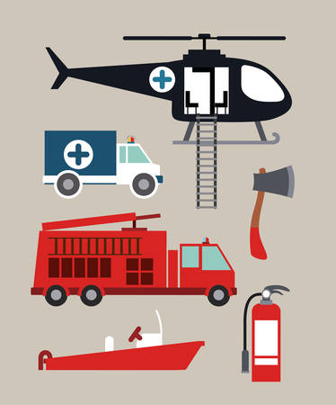 emergency service design, vector illustration graphic