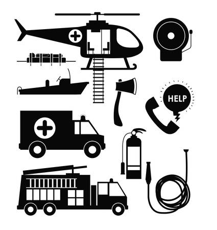 responders: emergency service design, vector illustration graphic