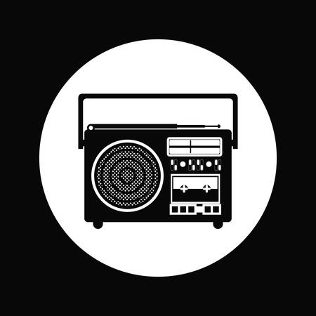 portable radio: radio portable icon design, vector illustration graphic
