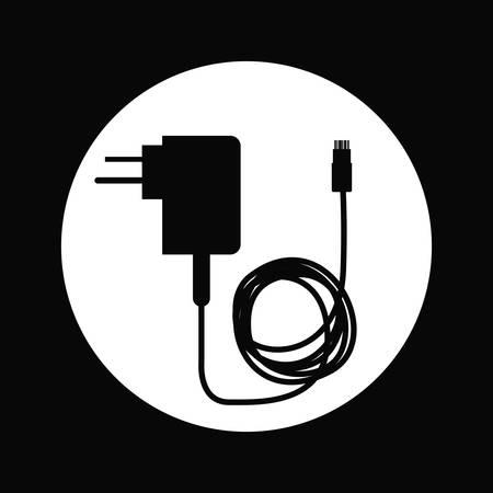 장 전기: cellphone charger design, vector illustration graphic