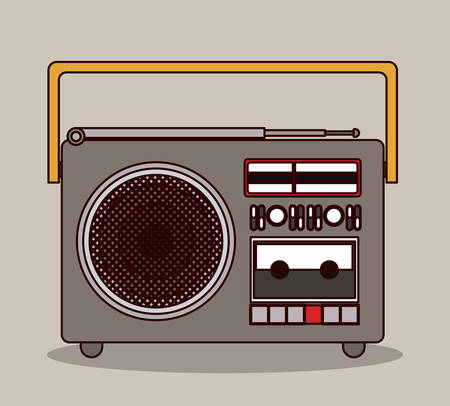 fm radio: radio portable icon design, vector illustration graphic