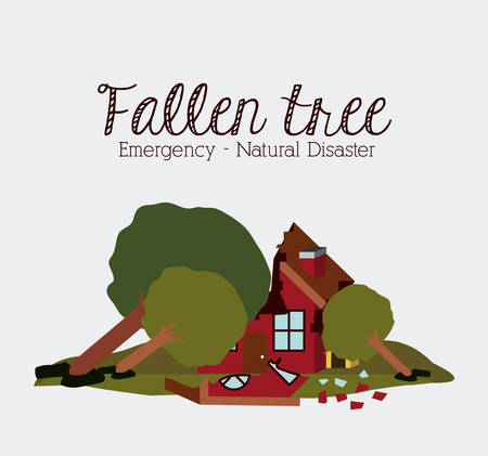 landslide: natural disaster design, vector illustration graphic Illustration