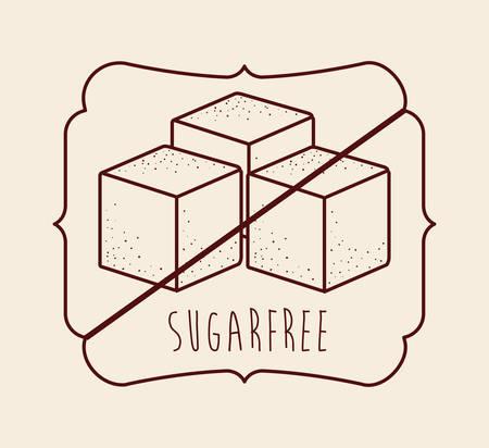 sugar cube: sugar free product design, vector illustration  graphic