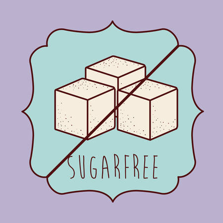 sugar cube: sugar free product design, vector illustration graphic Illustration