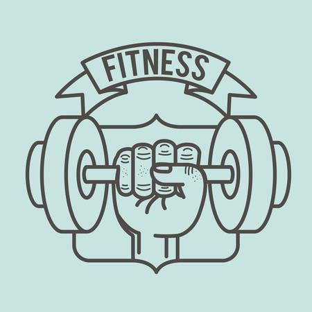 gymnastics silhouette: fitness lifestyle design, vector illustration graphic Illustration