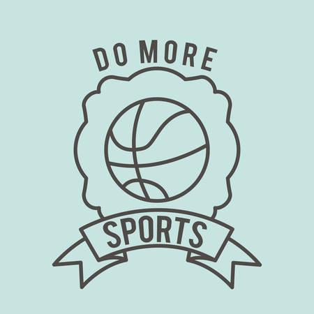 balon baloncesto: fitness lifestyle design, vector illustration graphic Vectores