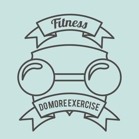 trainer device: fitness lifestyle design, vector illustration graphic Illustration